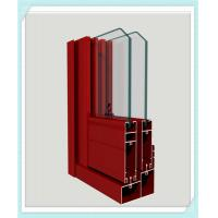 China Lightweight Window Aluminum Profile Corrosion Resistance Red Color Smooth Surface wholesale