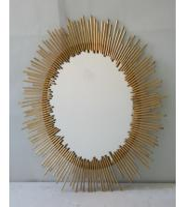 China Oval Iron Mirror Wall Decor, 76 * 100cm Bathroom Mirror Wall Stickers Decor wholesale