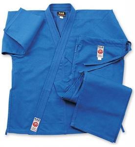 China Blue Lightweight GI Karate Uniform , Elastic Waist with Drawstring on sale