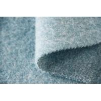 China Mohair Yarn Plain Quilting Fabric , Japanese Boucle Wool Fabric 57 / 59 Width wholesale