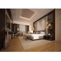 Customized Luxury Hotel Bedroom Furniture High Density Form Classical Style