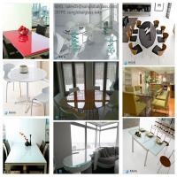 Adjustable Extension Dining Table top glass