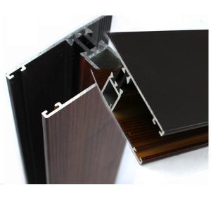 Buy cheap Профили промышленного деревянного финиша алюминиевые для поликарбоната покрывают ОЭМ/ОДМ from wholesalers