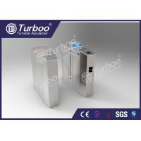 China Anti - Tailgating Flap Barrier Turnstile With Durable DC Brushless Motor wholesale