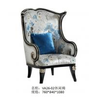 China Villa house luxury furniture of Leisure sofa chairs in Fabric upholstered by Glossy painting Beech wood frame wholesale