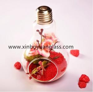 China Hanging bulb glass vase air plant votive on sale