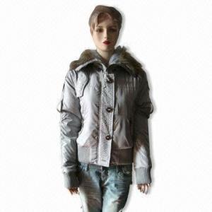 China Coat with Detachable Fur Hood on sale