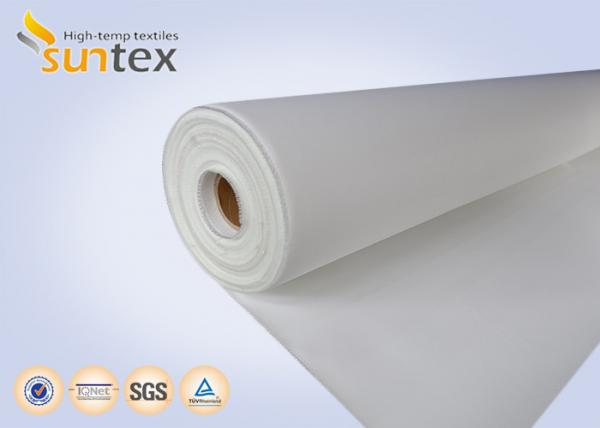 Quality Fireproof Curtains PU Coated Fiberglass Fabric Smoke Barrier 0.4mm Thermal Insulation Roll Pipe Protection Cover for sale
