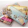 China new female long  zipper wallet,damond wallet wholesale