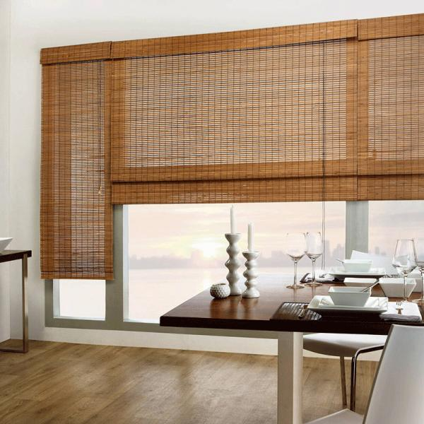 Quality 2.4 Meters Max Width Bamboo Sun Shade Roller Blinds for sale