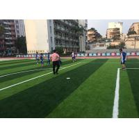 China Customized Yarn Shape Football Field Artificial Grass 9450 Stitches Density For University on sale