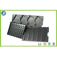 China Electronic PS Black 0.45 mm Plastic ESD Trays , Anti-static Compartment Tray wholesale