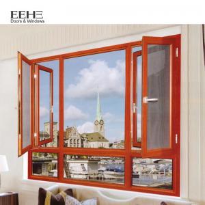 China European Style Aluminum Casement Windows With Doule Laminated Glass Type wholesale