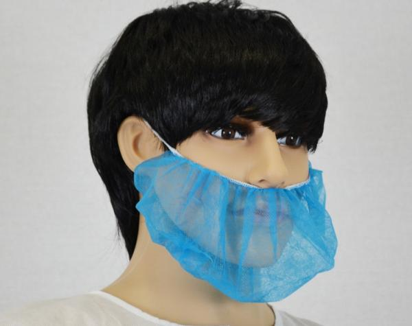 Quality Spunbond Polypropylene Surgical Beard Covers Disposable With Single Or Double Elastic Band for sale