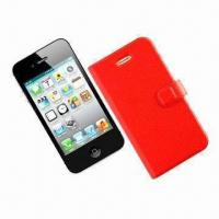 China Leather Case for iPhone 4/4S, Durable, Environment-friendly, Exquisite Workmanship wholesale