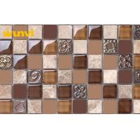 China Natural Glossy Glass Ceramic Mosaic Tiles , Ceramic Wall Tiles For Kitchen wholesale