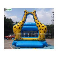 China Little Kids Indoor Mini Giraffe Inflatable Jumper For Party Game , Blue wholesale