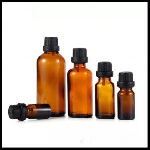 Buy cheap 10ml Amber Glass Essnetial Oil Bottles With Black Big Head Burglarproof Screw from wholesalers