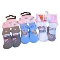 China OEM lovely Kids Terry Loop Socks with Jacquard / Embroidery / Woven label wholesale