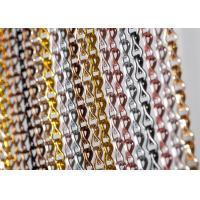 China Aluminum Chain Fly Door Curtains Double Hook Chain Link Mesh Curtains on sale
