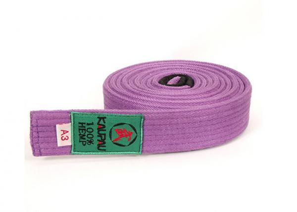 Quality Customized Purple Belt Jiu Jitsu Kids Jiu Jitsu Martial Arts Belts for sale
