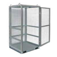 China W1060 * D1060 * H1800 Mm  Wire Utility Cart / Grey Wire Mesh Security Cage For Cylinder on sale