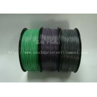 China Custom Color Changing abs and pla filament 1.75 / 3.0mm Grey to white wholesale