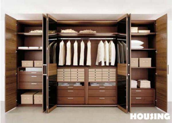 Wooden Wardrobe Styles : ... wood veneers in many colors and wood finishes Senzafine wardrobe and