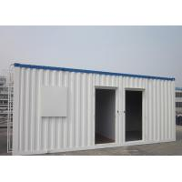 China Easy Transportation Prefab Steel Houses With Fiber Glass Wool Insulation wholesale