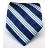 China Silk Woven Navy Striped Tie wholesale