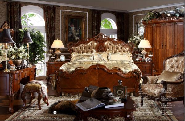 Quality hand carved luxury bed room,royal classic bedroom furniture for sale