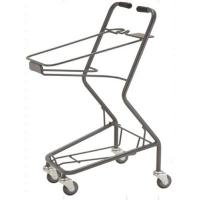 China Shopping Basket Trolley Retail Grocery Store Baskets On Wheels 565×490×930 mm wholesale