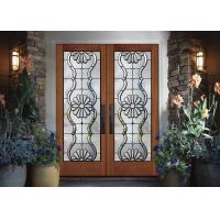 China Black Patina Internal Decorative Sliding Glass Door Added Light on sale