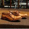 China As sapatas formais de couro puras superiores da camurça, enegrecem botas de couro feitos a mão dos homens de 100% wholesale