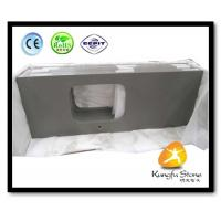 China Xiamen Kungfu Stone Ltd supply Fine Grey Quartz Kitchen Countertops  In High quality and cheap price on sale
