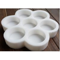 China Round Soap Moulds Silicone Flower Pattern Rubber Molds Seven Cavities Handmade Soap wholesale
