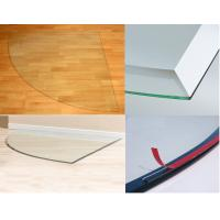 Tempered Glass Hearth Plate Transparent Impact Resistance 8mm