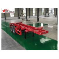 China Leaf Spring Type 40 Ft Low Bed Trailer wholesale