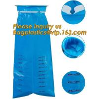 China emesis vomit bag disposable,Used for hospita/ travel /airplane/ disposable blue plastic vomit bag with ring Medical Emes on sale