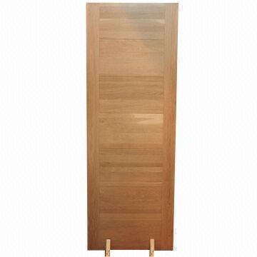 Oak veneer flush doors design images for Solid wood flush door