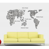 China New Wall Stickers/ DIY Removable New Wall Sticker Wall Home Decor Art A Map of The World Decal Mural Paper in China wholesale