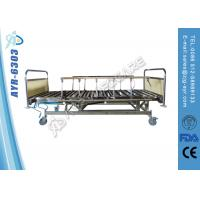 China MDF Head-foot Board Four Crank Stainless Steel Hospital Bed For Home Use wholesale