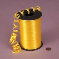 PP Solid Embossed Yellow green Curling Ribbon 5mm X 500y  for gift decoration