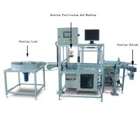 China Automatic Fiber Metal Laser Marking Machine for Bearings Marking , Integrate Double Air Cylinder