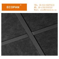 China 600 * 600mm Black Square Edge Soundproof Decorative Drop Ceiling Tiles , 25mm Thickness wholesale