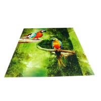 Parrot Pattern Green Plastic Commercial Ceiling Panels No Cracking