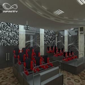 China Hydraulic Electric 5D 7D Cinema / 6 8 9 12 Seats Virtual Reality Equipment wholesale