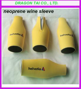 China Neoprene Zippered Bottle Holder, Neoprene bottle sleeve; wholesale