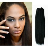 China Jet Black Micro Weft Silk Straight / cambodian loose curly hair on sale