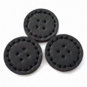 China botões cobertos Mão-costurados, feitos do couro do plutônio, Oeko-Tex 100/CPSIA certificado wholesale
